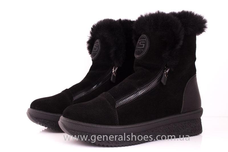 Женские зимние ботинки D 15231 черные фото 8