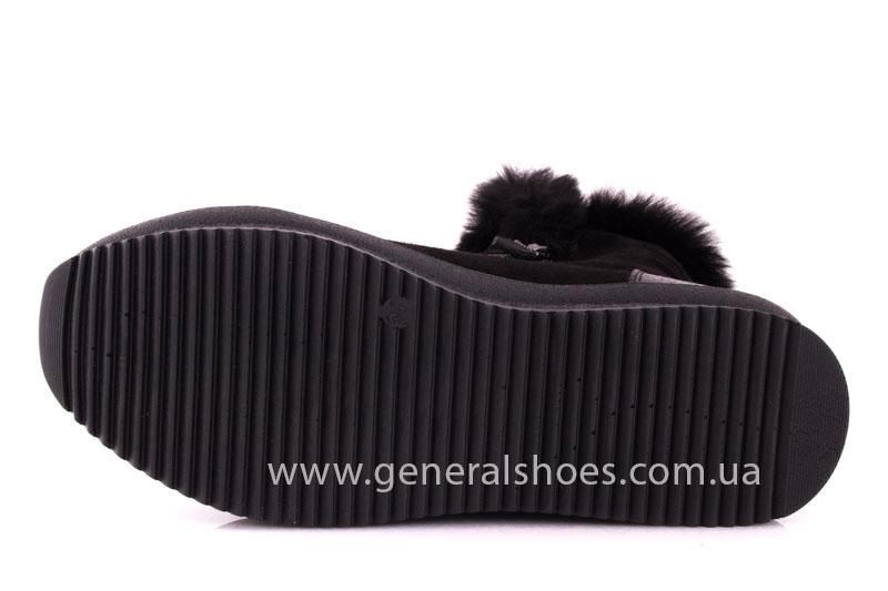 Женские зимние ботинки D 15231 черные фото 9