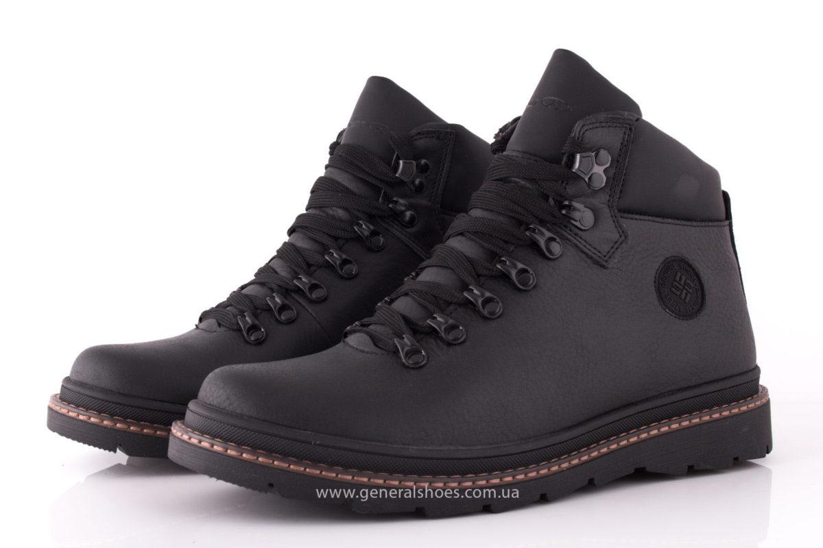 Зимние кожаные ботинки GS 221/1 черные фото 7