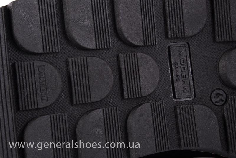 Зимние кожаные ботинки GS 221/1 черные фото 8