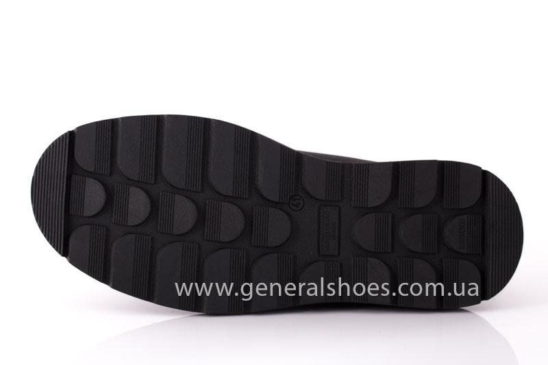 Зимние кожаные ботинки GS 221/1 черные фото 9