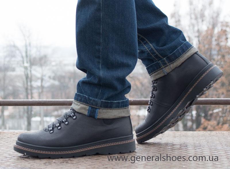 Зимние кожаные ботинки GS 2211 черные фото 17
