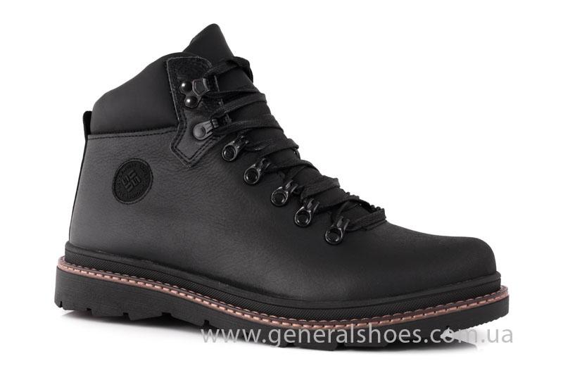 Зимние кожаные ботинки GS 221/1 черные фото 1