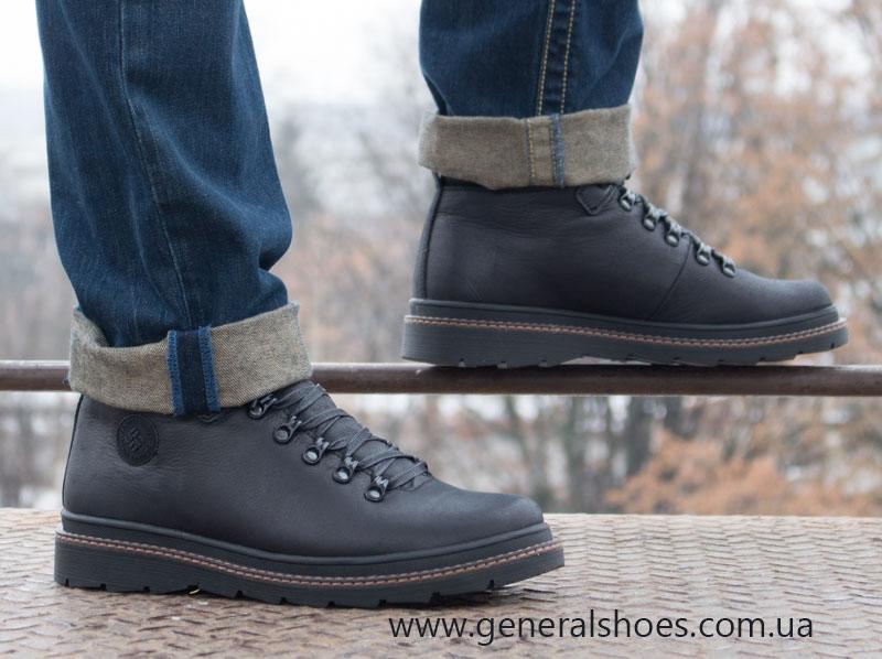 Зимние кожаные ботинки GS 2211 черные фото 15