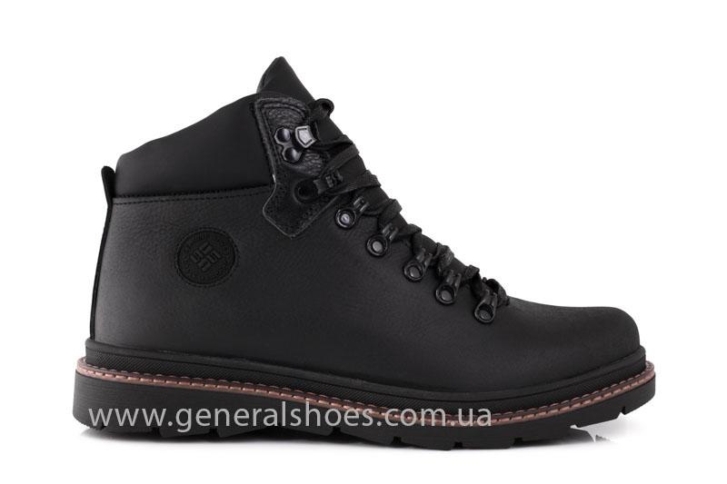 Зимние кожаные ботинки GS 221/1 черные фото 2