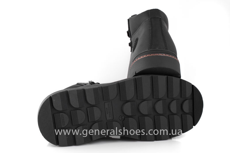 Зимние кожаные ботинки GS 221 черные