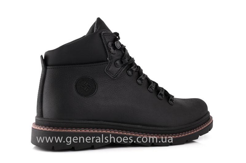 Зимние кожаные ботинки GS 221/1 черные фото 3