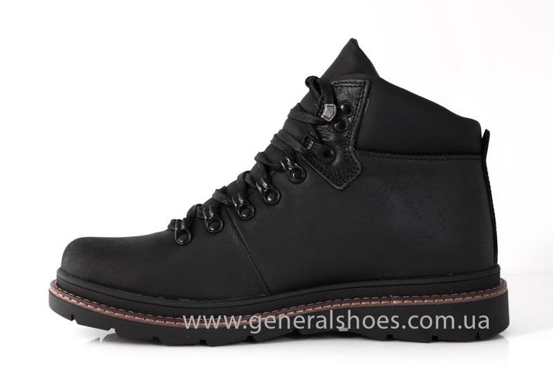 Зимние кожаные ботинки GS 221/1 черные фото 4