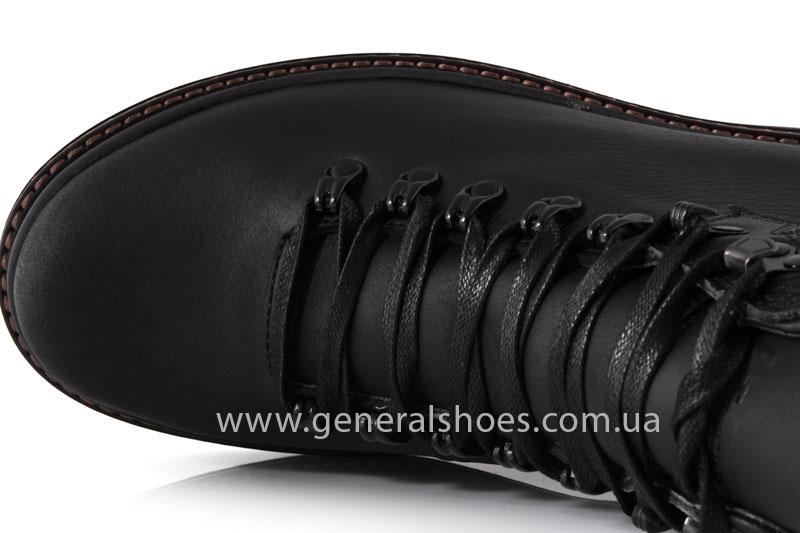 Зимние кожаные ботинки GS 221/1 черные фото 5