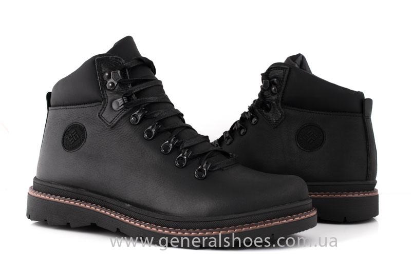 Зимние кожаные ботинки GS 221/1 черные фото 6
