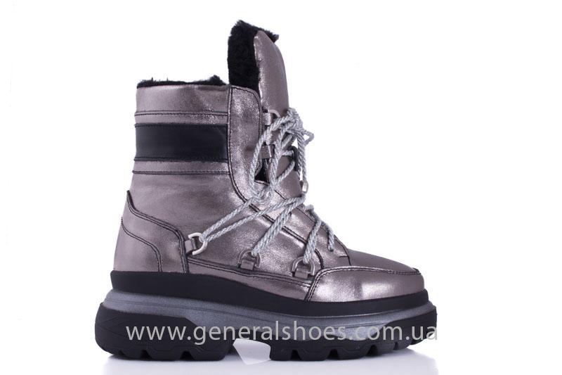 Зимние женские ботинки GL 321 никель фото 2