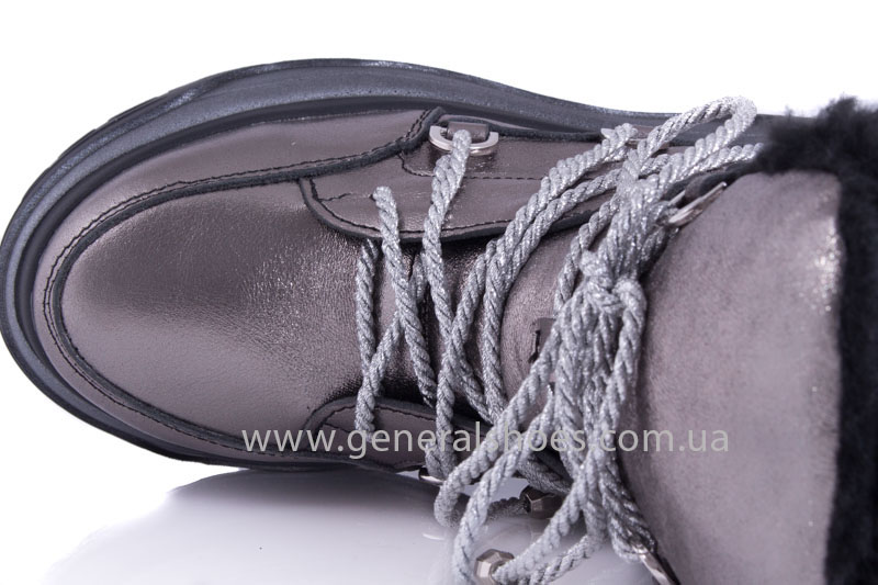 Зимние женские ботинки GL 321 никель фото 3