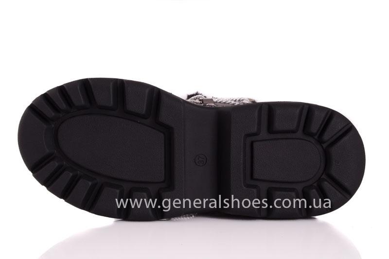 Зимние женские ботинки GL 321 никель фото 4
