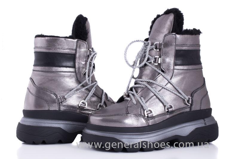 Зимние женские ботинки GL 321 никель фото 5