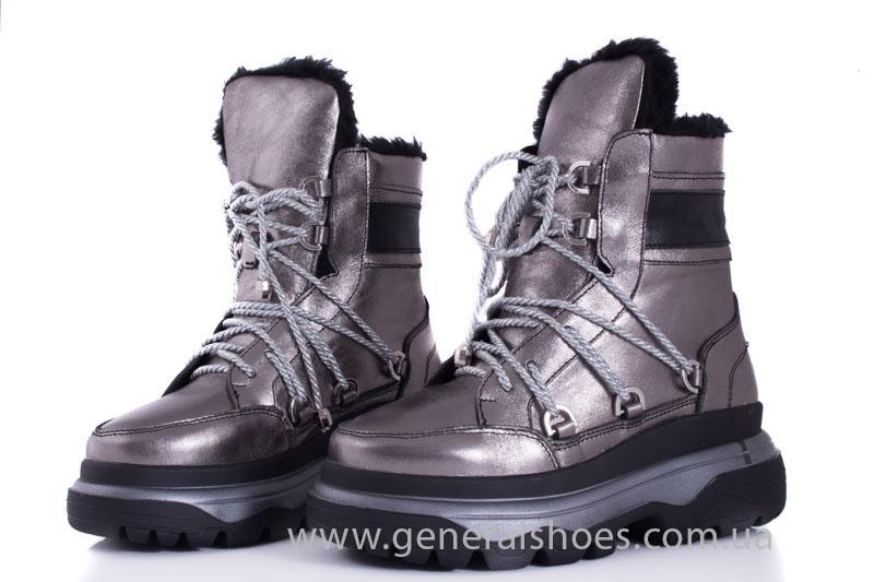 Зимние женские ботинки GL 321 никель фото 6