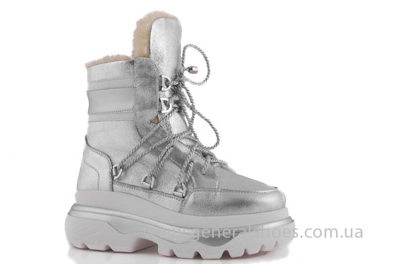 Зимние женские ботинки GL 322 серебро фото 1