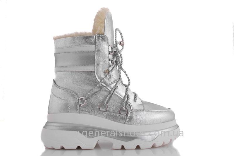 Зимние женские ботинки GL 322 серебро фото 2