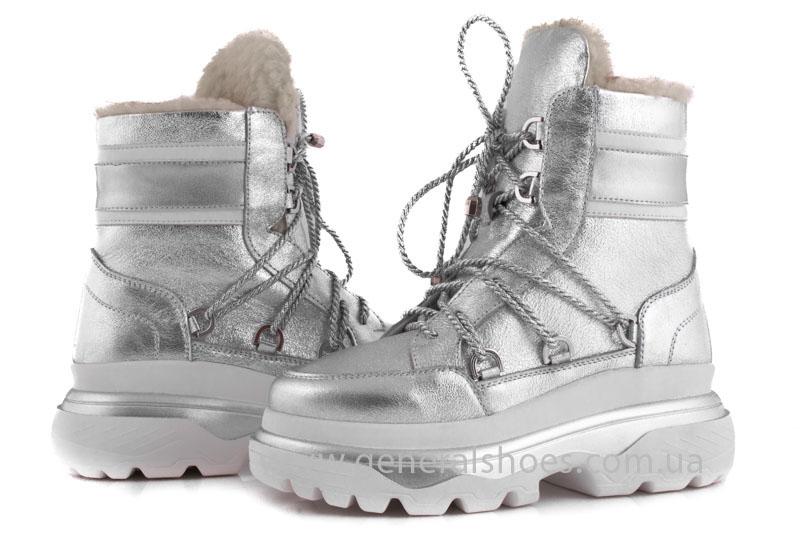 Зимние женские ботинки GL 322 серебро фото 3