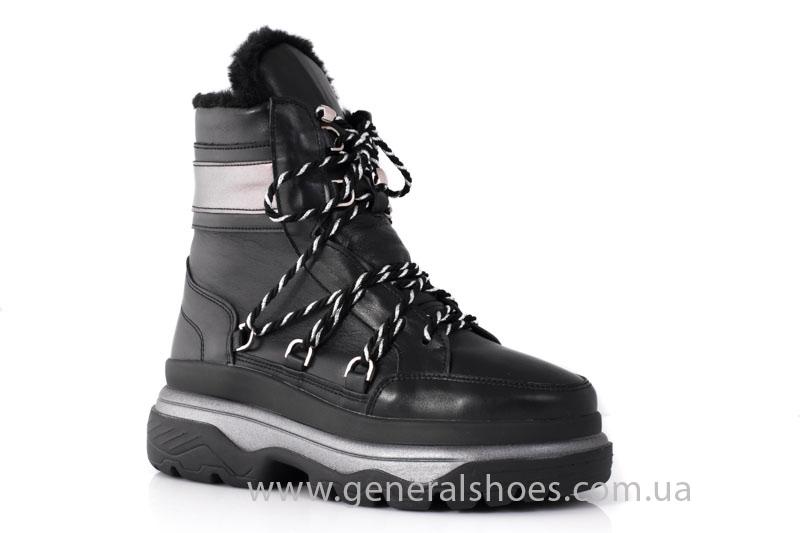 Зимние женские ботинки GL 323 черные фото 7