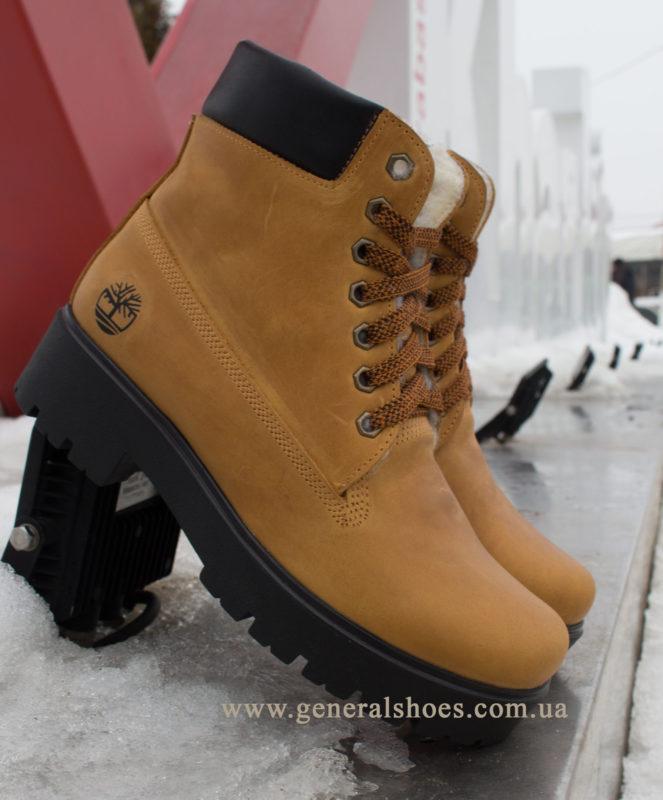 Зимние женские ботинки кожаные GL 07
