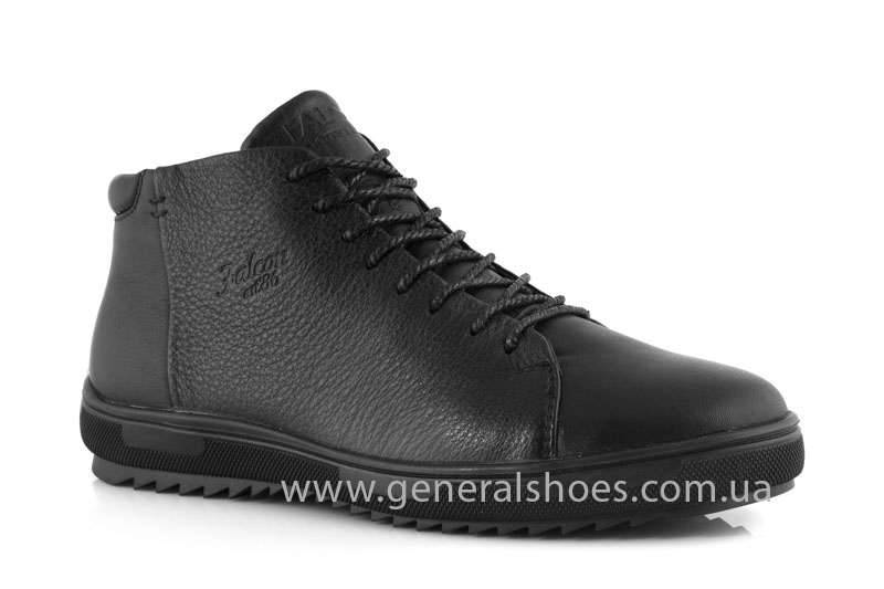 Мужские зимние ботинки Falcon 11919 черные фото 1