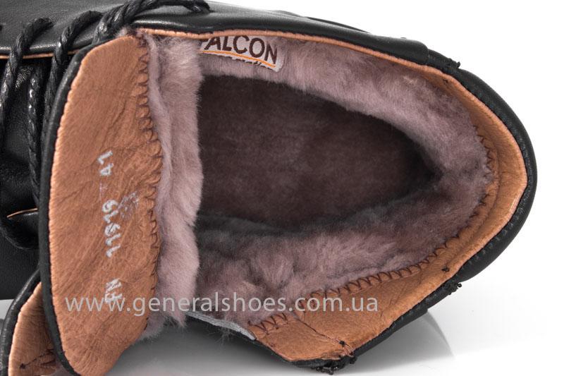 Мужские зимние ботинки Falcon 11919 черные фото 11