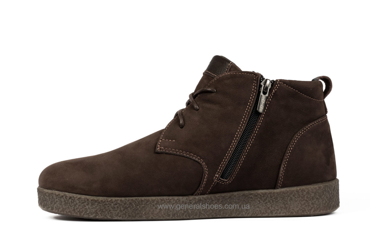 Мужские зимние ботинки Koss коричневые фото 3