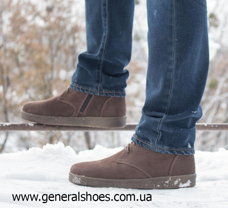 Мужские зимние ботинки Koss коричневые фото 12