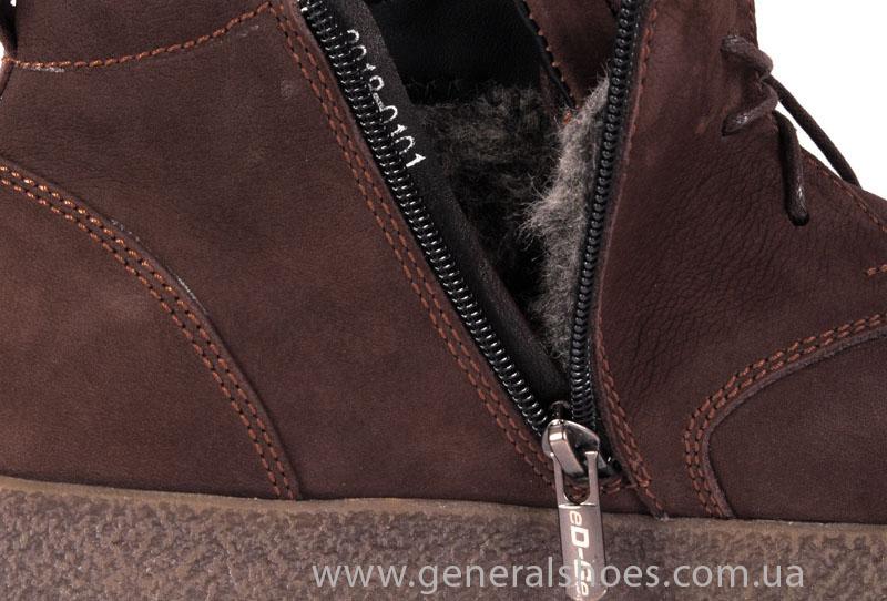Мужские зимние ботинки Koss коричневые фото 9