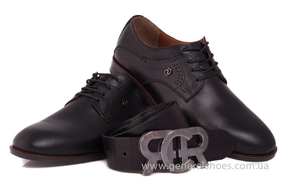 Мужской кожаный ремень RCR черный фото 4