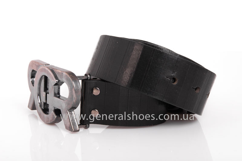 Мужской кожаный ремень RCR черный фото 3