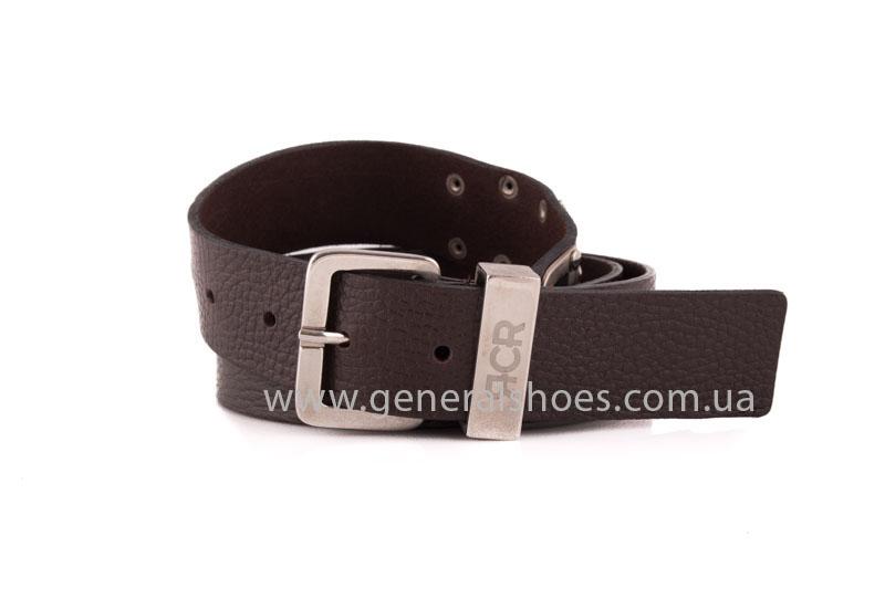 Мужской кожаный ремень RCR коричневый фото 1