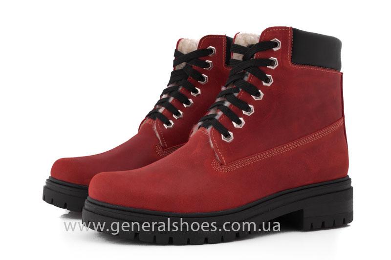 Женские зимние ботинки GL 150 кожаные фото 8