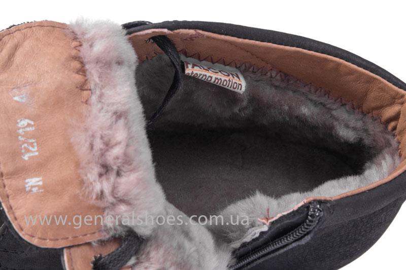 Зимние мужские ботинки Falcon 12719 черные фото 7