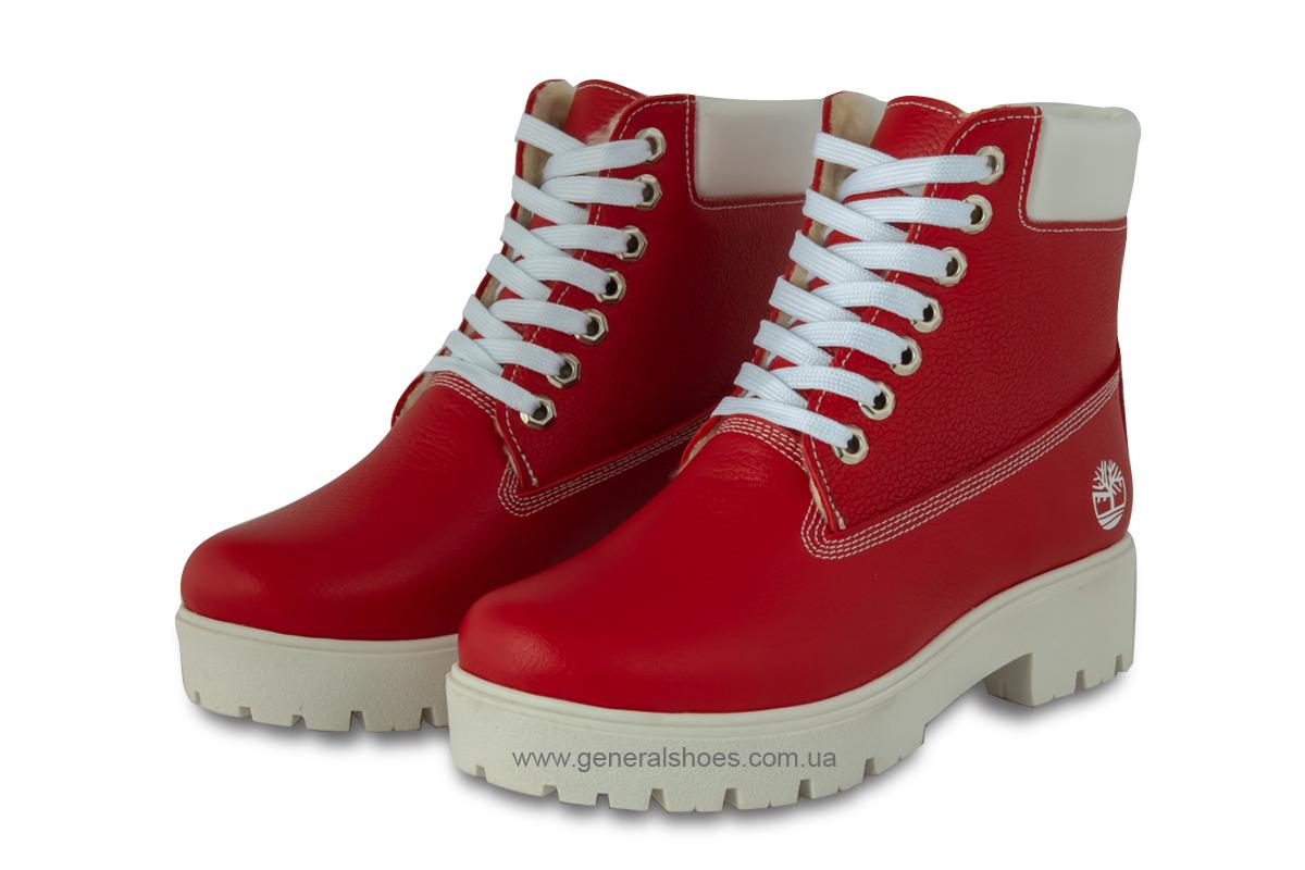 Зимние женские ботинки красные GL 05 фото 1