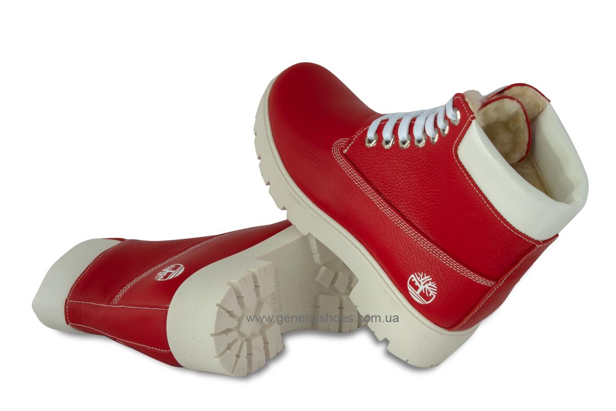 Зимние женские ботинки красные GL 05 фото 2