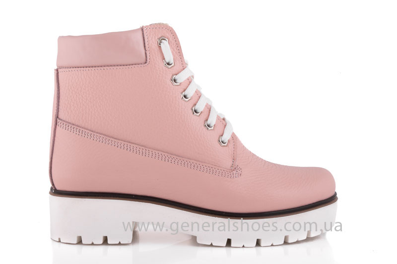 Зимние женские ботинки розовые GL 05 фото 2