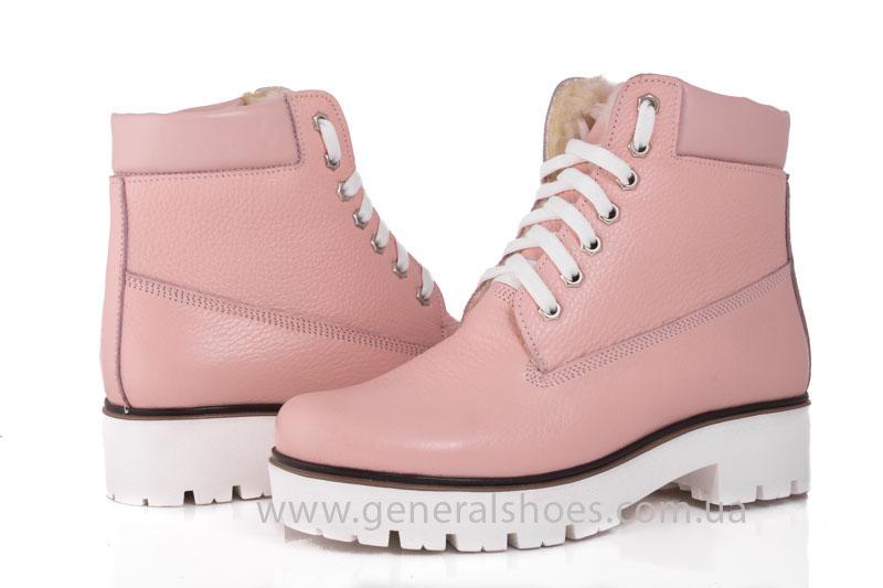 Зимние женские ботинки розовые GL 05 фото 6