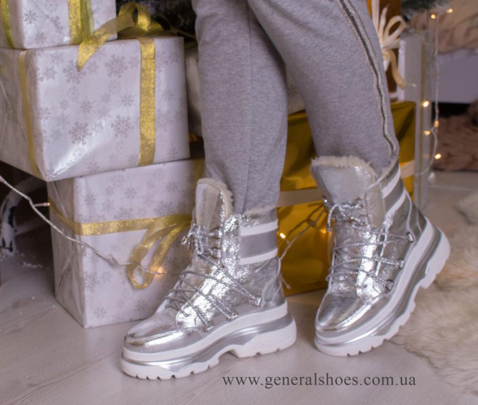 Зимние женские ботинки GL 322 серебро фото 9