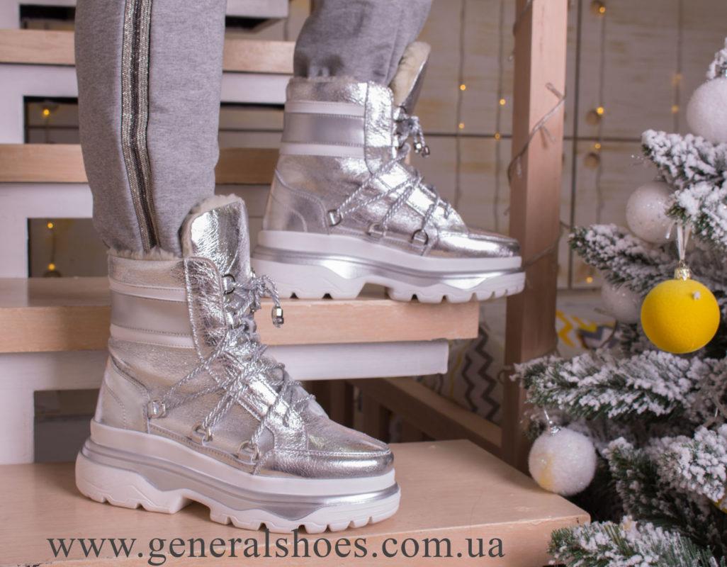 Зимние женские ботинки GL 322 серебро фото 4