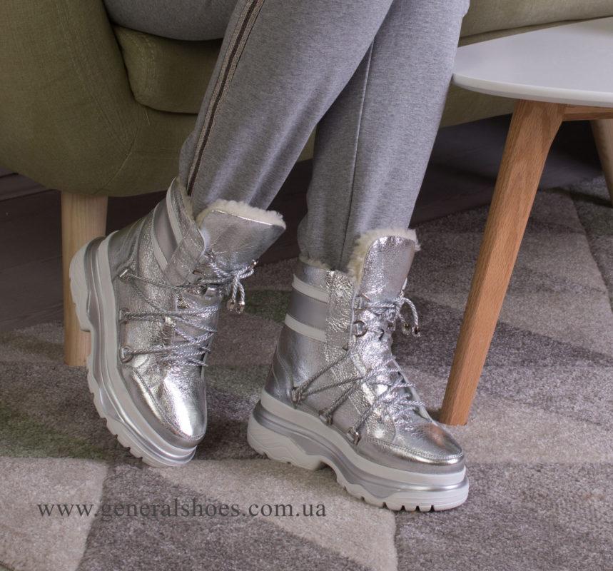 Зимние женские ботинки GL 322 серебро фото 6