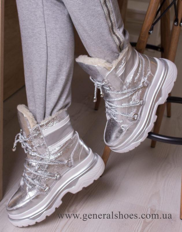 Зимние женские ботинки GL 322 серебро фото 7