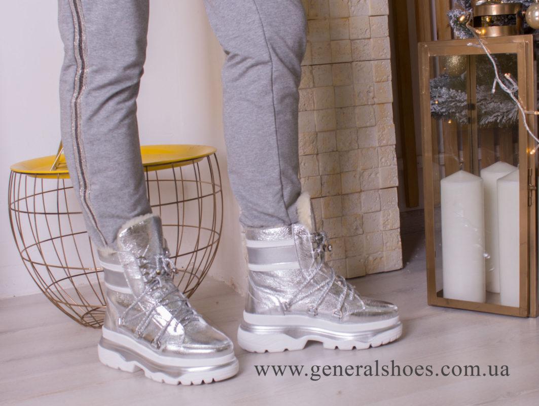 Зимние женские ботинки GL 322 серебро фото 5