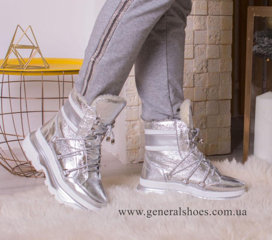Зимние женские ботинки GL 322 серебро фото 10