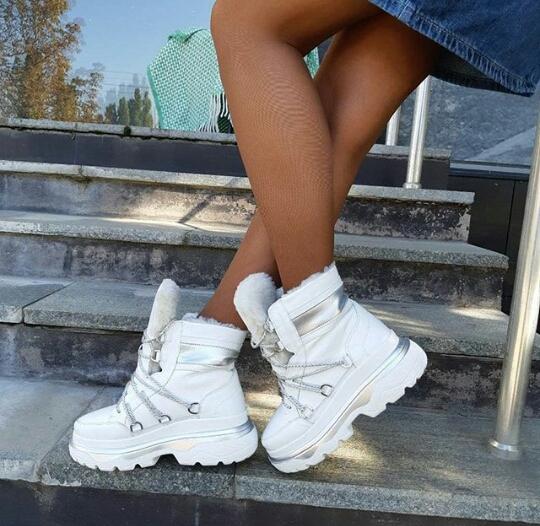 Зимние женские ботинки GL 324 белые фото 3