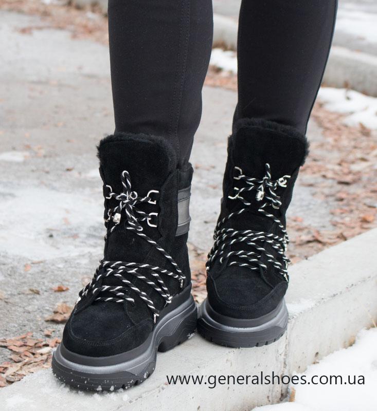 Зимние женские ботинки GL 324 черные фото 8