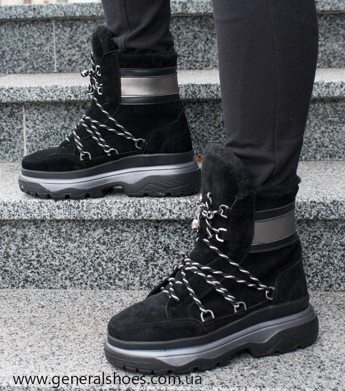 Зимние женские ботинки GL 324 черные фото 10