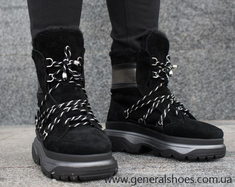 Зимние женские ботинки GL 324 черные фото 7