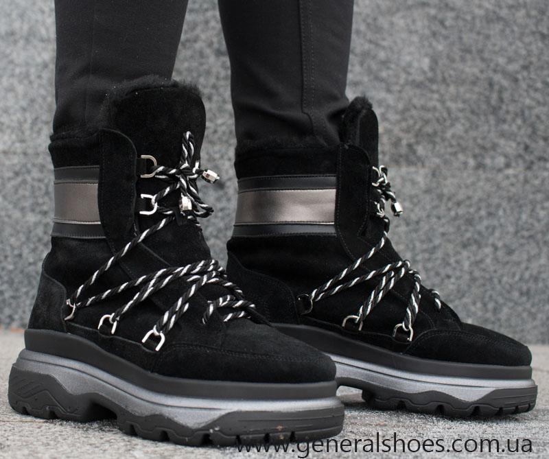 Зимние женские ботинки GL 324 черные фото 6