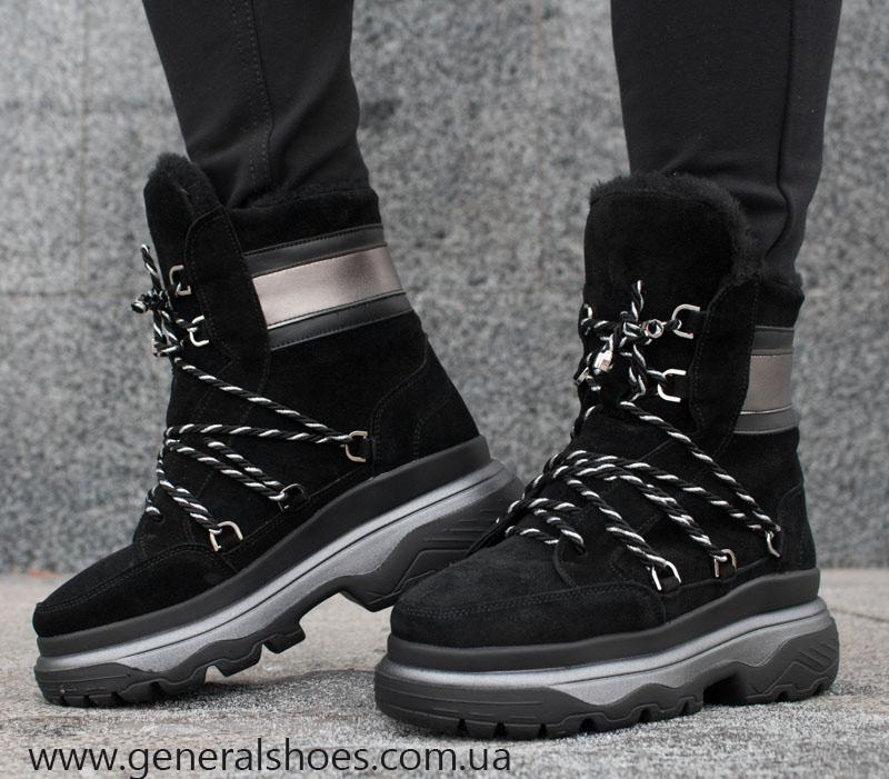 Зимние женские ботинки GL 324 черные фото 5